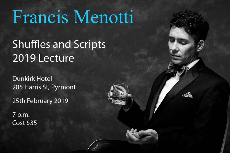 Monday 25th February Francis Menotti Lecture