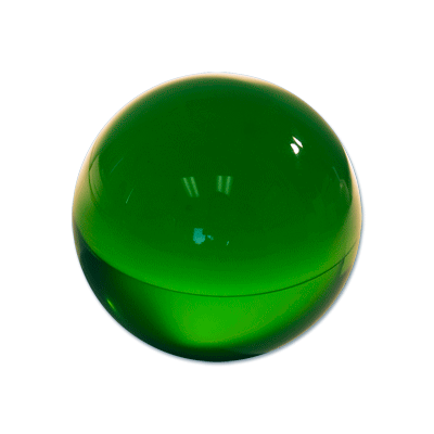 Contact Juggling Ball (Acrylic, FOREST GREEN, 76mm) - Trick