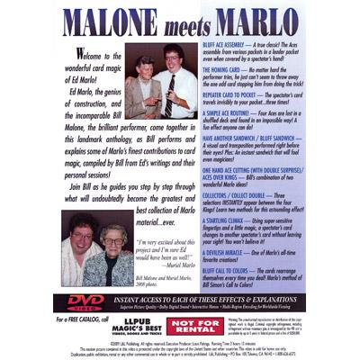 Malone Meets Marlo #1 by Bill Malone - DVD