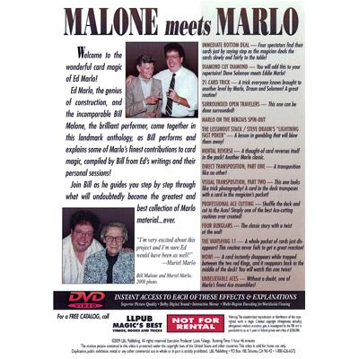 Malone Meets Marlo #6 by Bill Malone - DVD