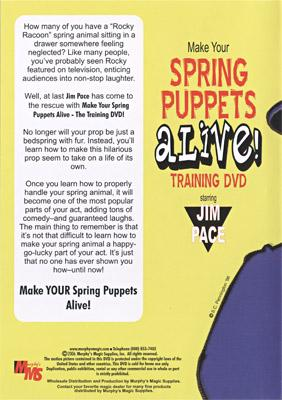 Make Your Spring Puppets Alive - Training DVD by Jim Pace - DVD