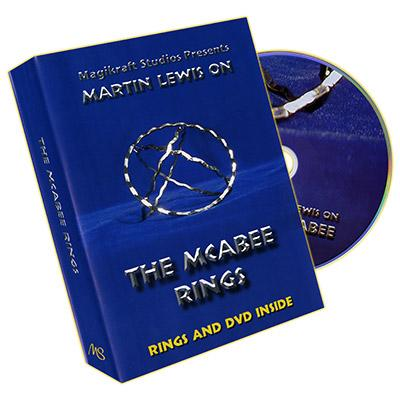 McAbee Rings (Gold Rings and DVD) by Martin Lewis - Trick