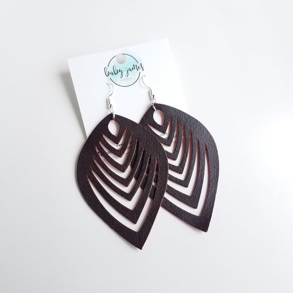 Jumbo Feather Cutout Earrings