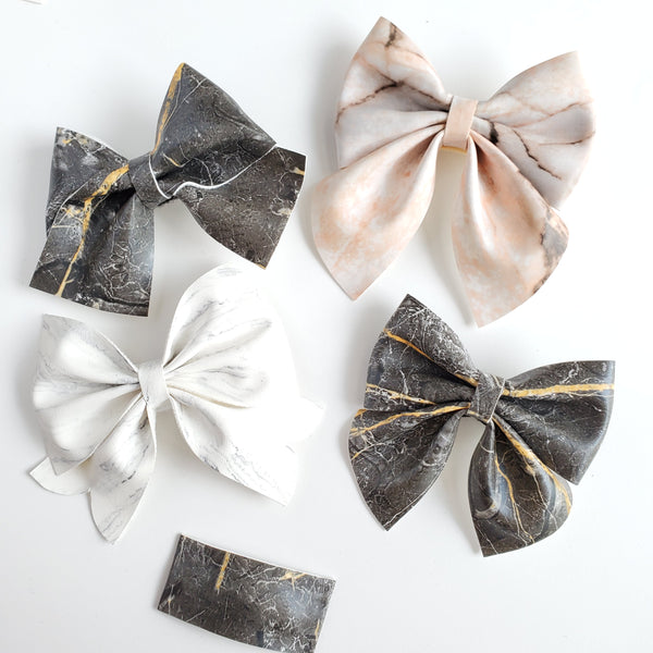 Natural Stone Bows and Clips