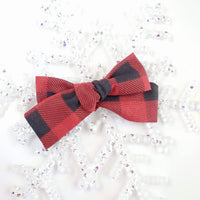 HOLLY JOLLY Printed Cotton Tie Bows