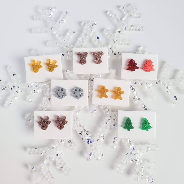CHRISTMAS Acrylic Mini Stud Earrings