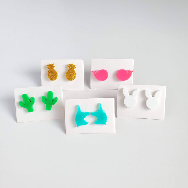 NOVELTY Acrylic Mini Stud Earrings