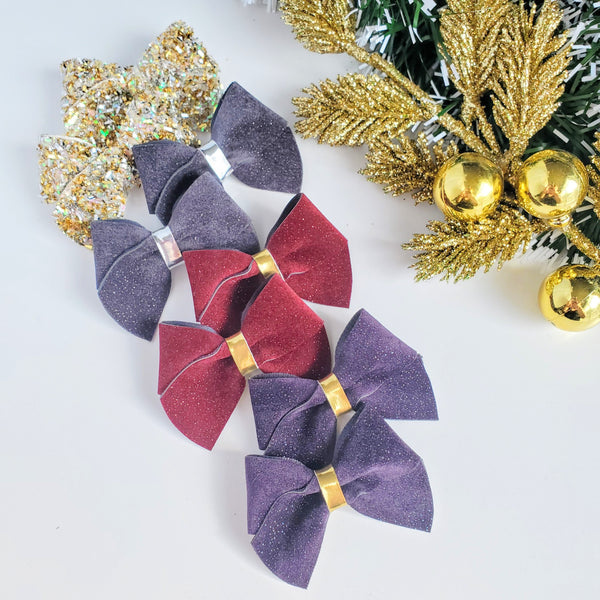 WINTER LUXE Violet Bow Duos