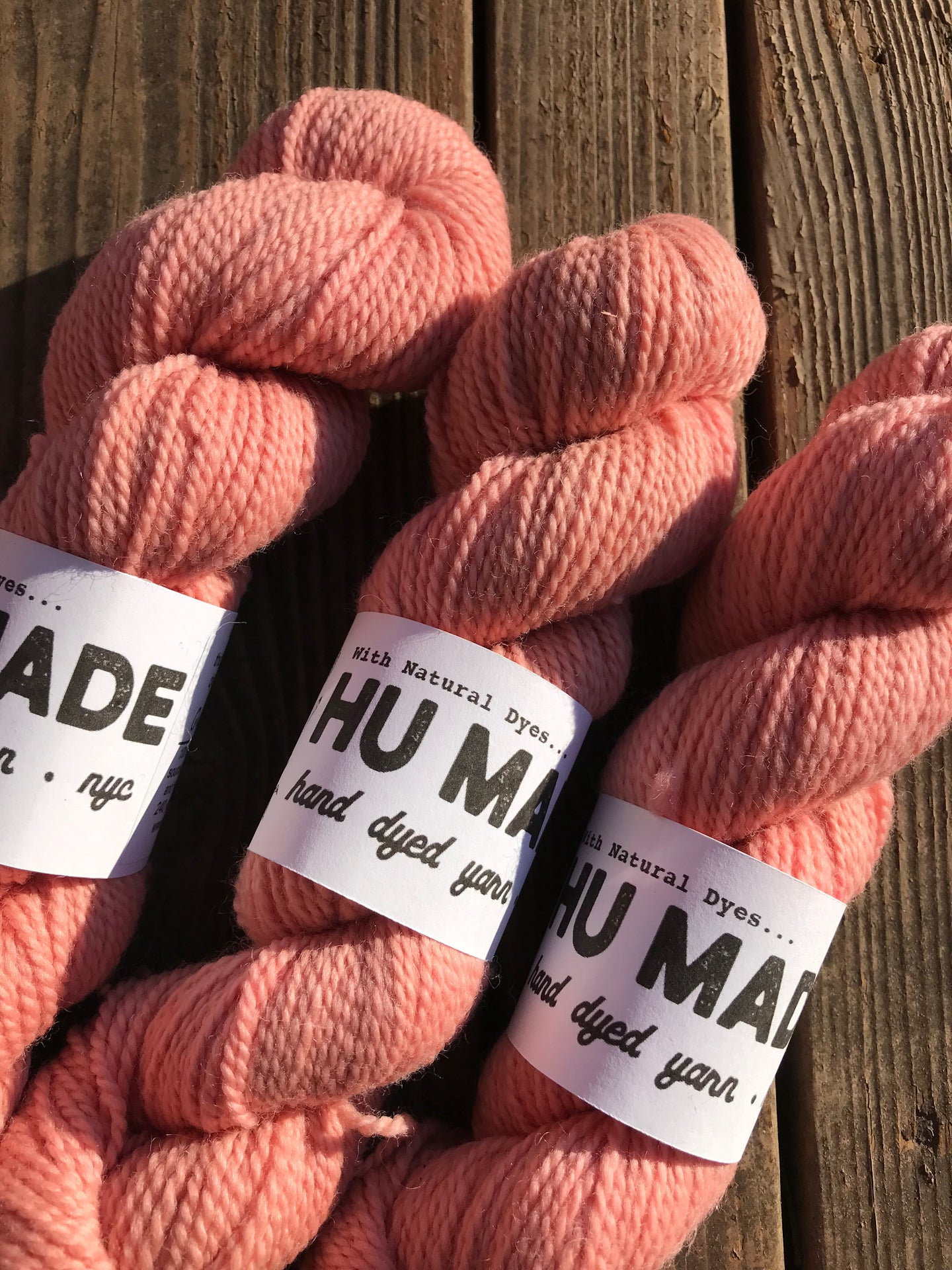 NATURALLY DYED DK WEIGHT - CORAL