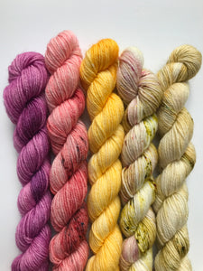 Mini Skein Kit (pink/yellows)