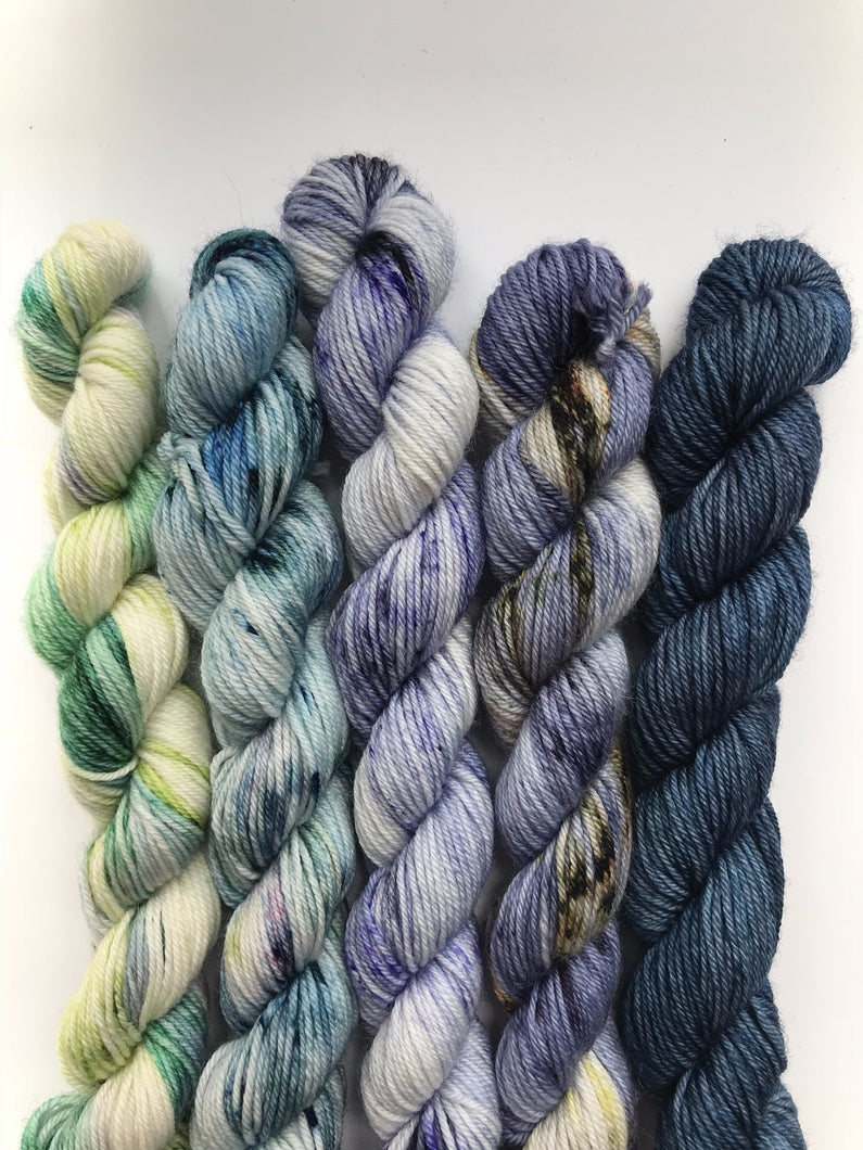 Mini Skein Kit (blue/greens)