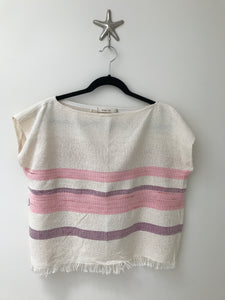 Handwoven - Pink Stripe Top