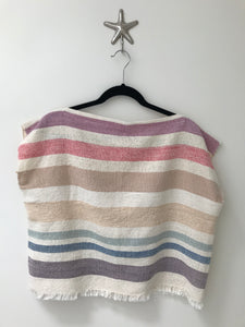 Handwoven - Rainbow Stripe Top #1