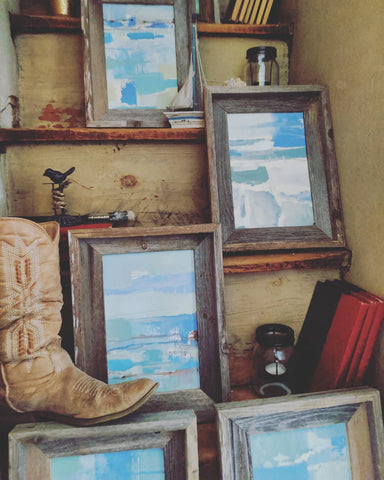 Rustic Shores Framed in Reclaimed Wood
