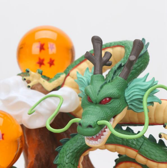 When you put together seven dragon balls,you can summon shenron dragon ball z. According to Shenron, Shenron cannot (or will not) grant the same wish more than once. The Dragon Balls cannot be used for one year after a wish is made, as they turn to stone This shenron DBZ model is made of PVC, It contains a dragon and seven dragon balls, and a rockery.