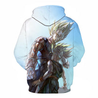 Dragon Ball ZFather and Son Bloody Majin Vegeta Super Saiyan Kid Trunks 3D Hoodies