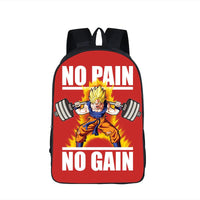 Dragon Ball Goku Motivation Quote Workout School Backpack Bag-dragonball- goku shop