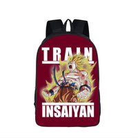 Dragon Ball Goku Super Saiyan Mode Train Insane School Backpack Bag-dragonball- goku shop