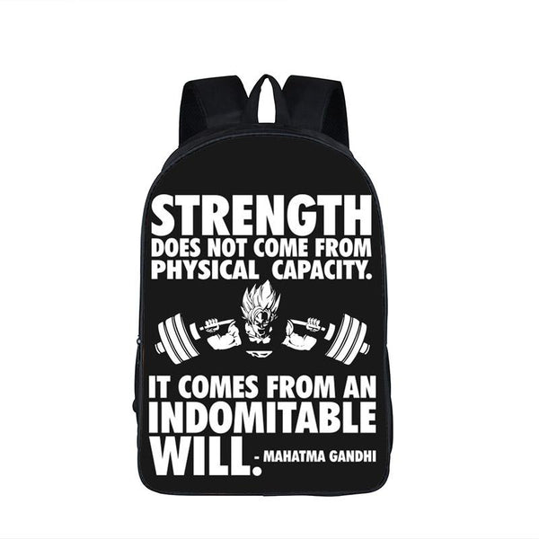 Dragon Ball Goku Training Strength Quotes Motivation School Backpack Bag-dragonball- goku shop