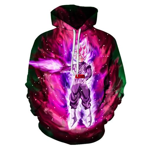 Dragon Ball Z Goku Black Super Saiyan Rose Super Saiyan God Super Saiyan Purple Hoodiess-dragonball- goku shop