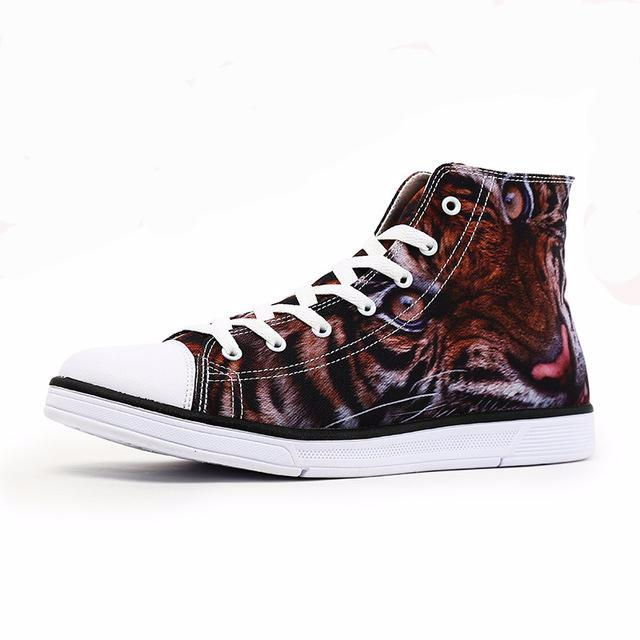 Tiger shoes :Unisex High Top Canvas Customized 3D Prints