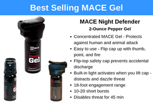 Our best selling pepper spray - the MACE night defender