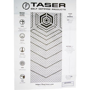 Taser practice target - for all Taser Self-Defense Systems