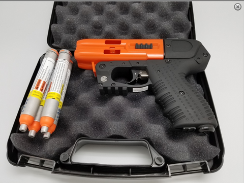 JPX4 4-Shot LE Defender Orange Pepper Gun with Laser