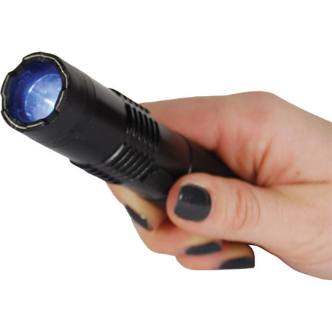 BashLite 15 Million Volt Compact Rechargeable Stun Gun Flashlight - Black