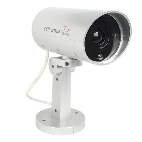 Indoor or Outdoor Motion Activated Dummy Camera with Flashing Red LED Light.