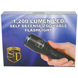 Zoomable 1,200 Lumen LED Flashlight