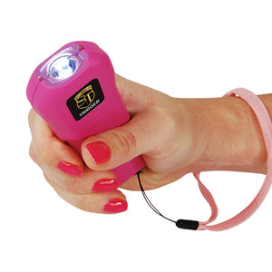 Safety Technology Trigger 18 Million Volt Rechargeable Stun Gun with Flashlight - Pink