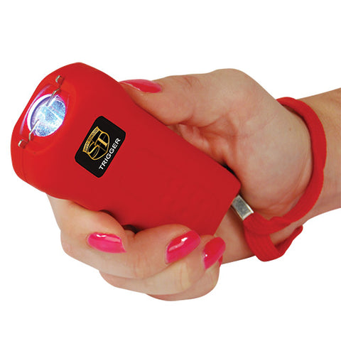 Trigger 18 Million Volt Rechargeable Stun Gun with Flashlight - Red