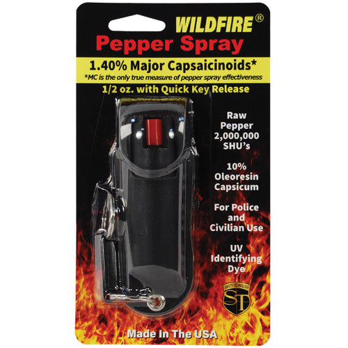 Wildfire® 1.4% MC 1/2 oz Pepper Spray Halo Holster Black