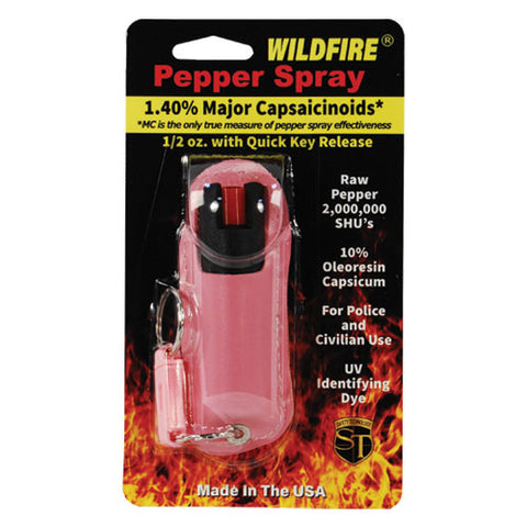 Wildfire® 1.4% MC 1/2 oz Pepper Spray Halo Holster Pink