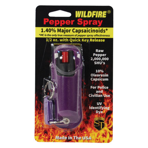 Wildfire® 1.4% MC 1/2 oz Pepper Spray Halo Holster Purple