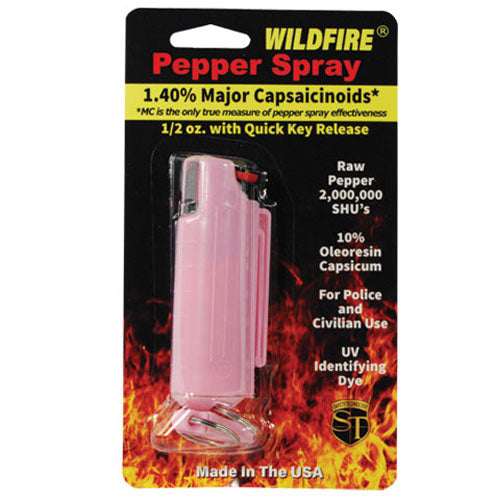 Wildfire® 1.4% MC 1/2 oz Pepper Spray Hard Case -Pink