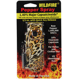 Wildfire® 1.4% MC 1/2 oz Pepper Spray Fashion Leatherette Holster - Leopard Black/Orange