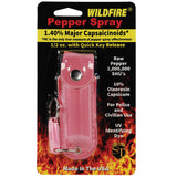 Wildfire® 1.4% MC 1/2 oz Pepper Spray Leatherette Holster - Pink