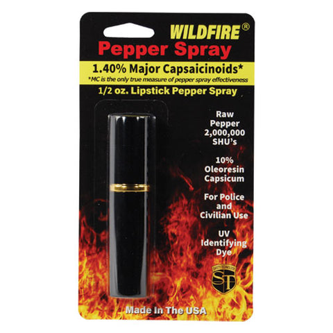 Wildfire® 1.4% MC Lipstick Pepper Spray Black