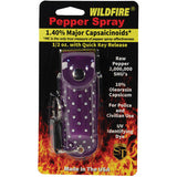 Wildfire® 1.4% MC 1/2 oz Pepper Spray Rhinestone Leatherette Holster - Purple