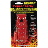 Wildfire® 1.4% MC 1/2 oz Pepper Spray Rhinestone Leatherette Holster - Red