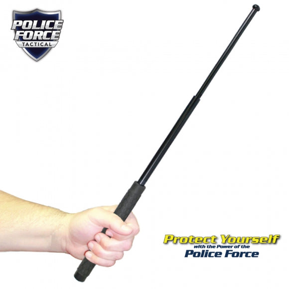 31-inch Expandable Steel Baton with Rubber Handle and Holster