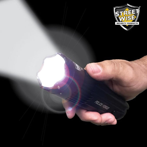 Police Force Tactical High Power 15 Million Volt* Flashlight Stun Gun