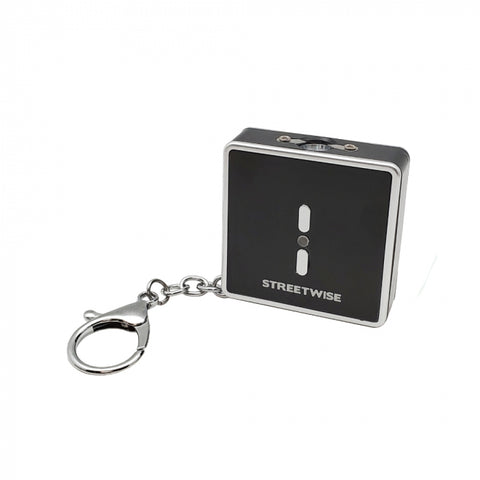 Square Off 26 Million Volt Black Keychain Stun Gun with Flashlight, Alarm, and Quick Release Connector