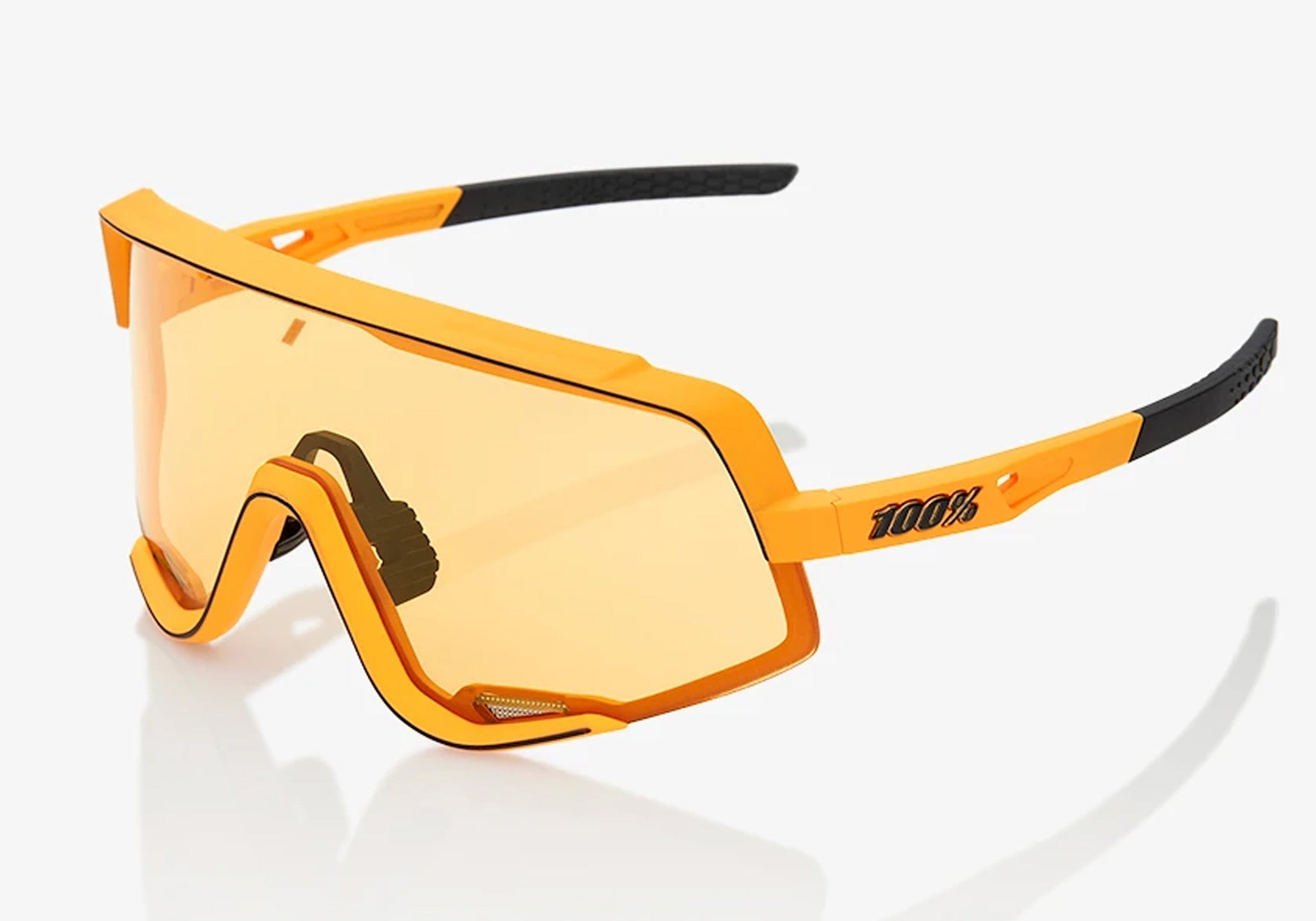 100% Eyewear Glendale Soft tact Mustard With Yellow Lens Woolys Wheels Cycling Sunglasses Sydney