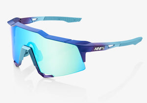 100% Eyewear Speedcraft - Matte Metallic Blue With Multilayer Mirror Lens + Clear Lens Woolys Wheels