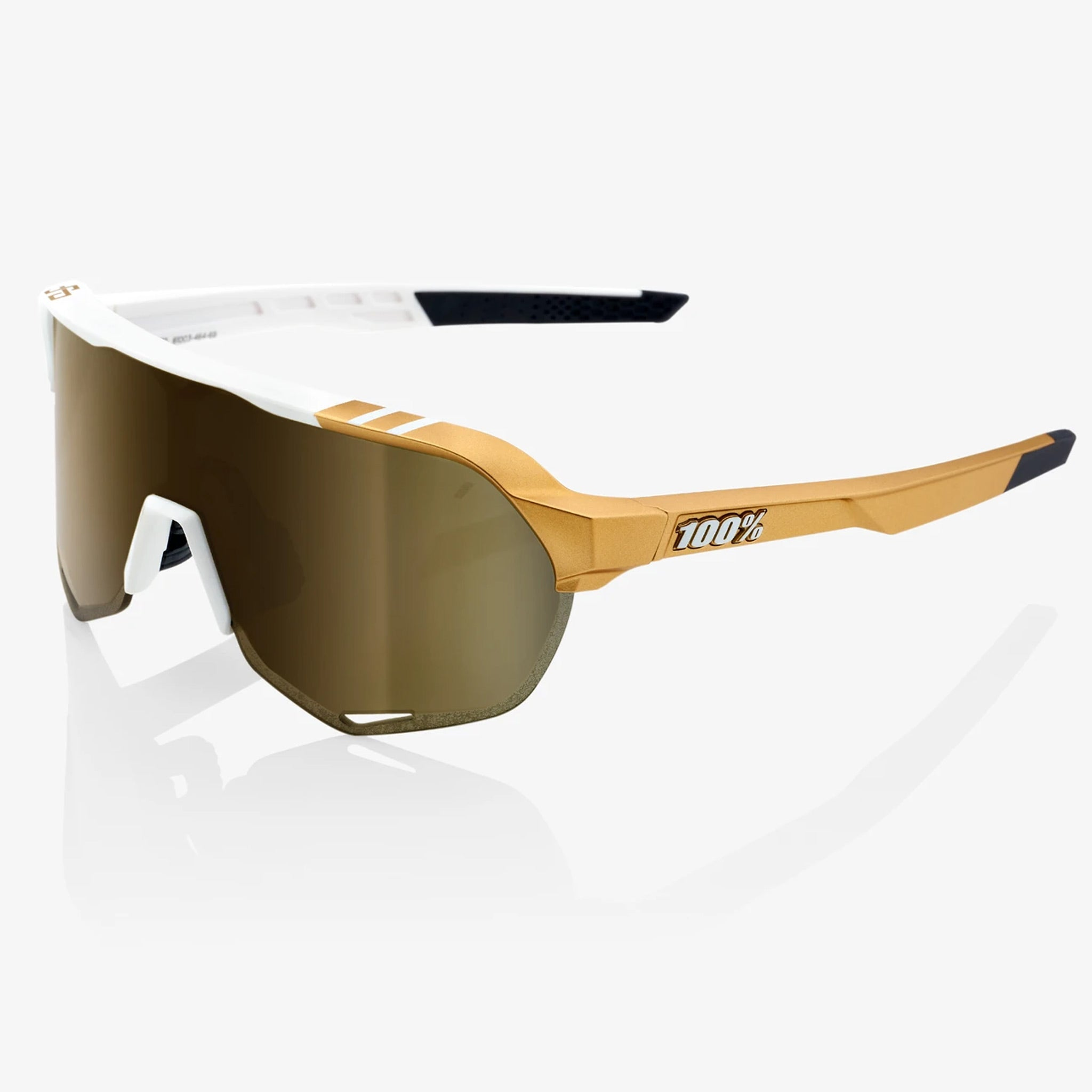 100% S2 Peter Sagan LE White Gold - Soft Gold Mirror Lens, Cycling Sunglasses buy online at Woolys Wheels Sydney