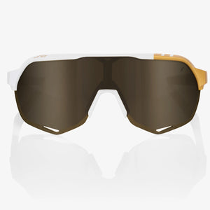 100% S2 Peter Sagan LE White Gold - Soft Gold Mirror Lens, Cycling Sunglasses