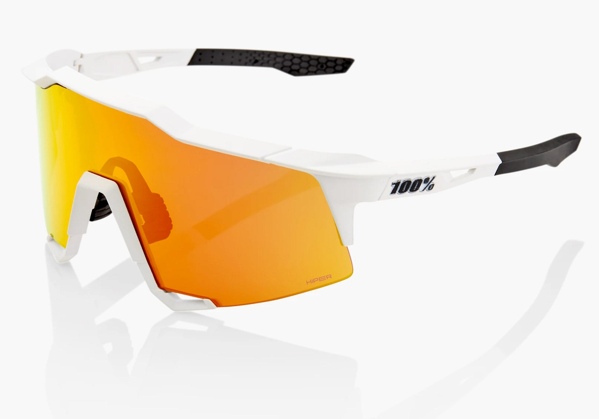 100% Eyewear Speedcraft Off White, with Hiper Red Mirror Lens + Clear Lens, Cycling Sunglasses, buy online at Woolys Wheels Sydney